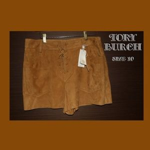 Tory Burch Elyse Suede Short, Size 10